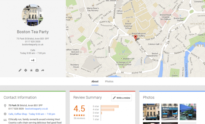Google local example