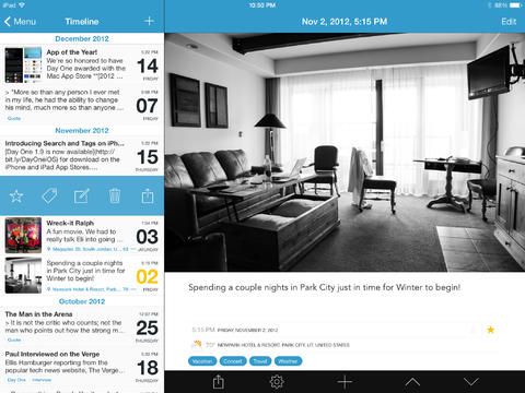 Day One iPad Screenshot