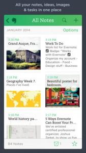 Evernote iOS Screenshot