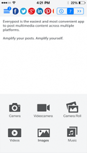 Everypost iOS Screenshot