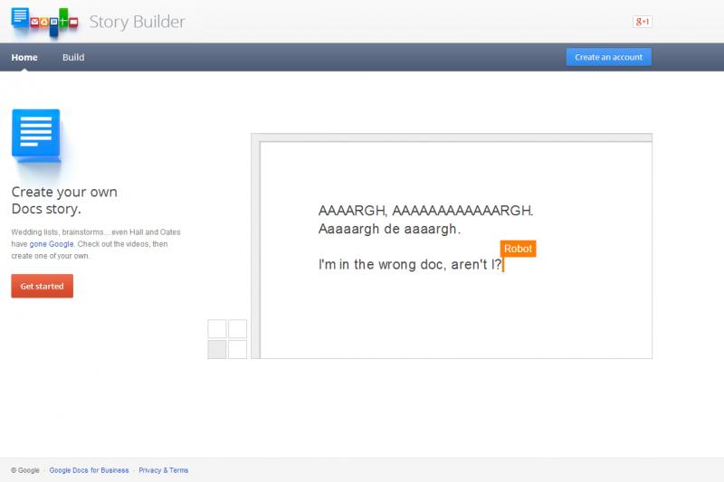 Google Story Builder Screenshot