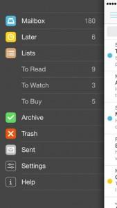 Mailbox iOS Screenshot