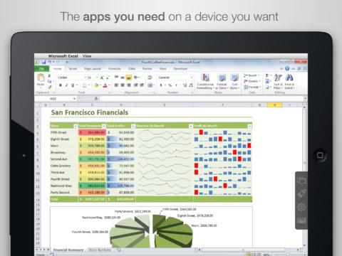 Parallels Access iPad Screenshot