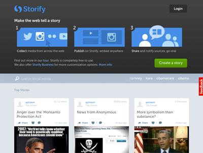 Storify Screenshot