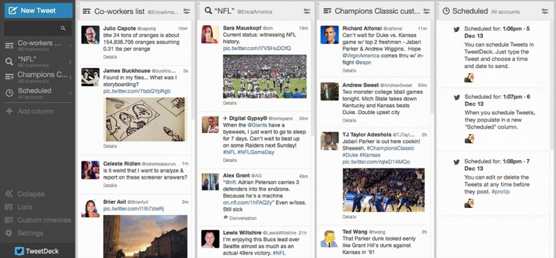 Tweet Deck Screenshot