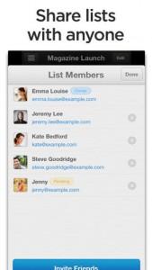 Wunderlist iOS Screenshot