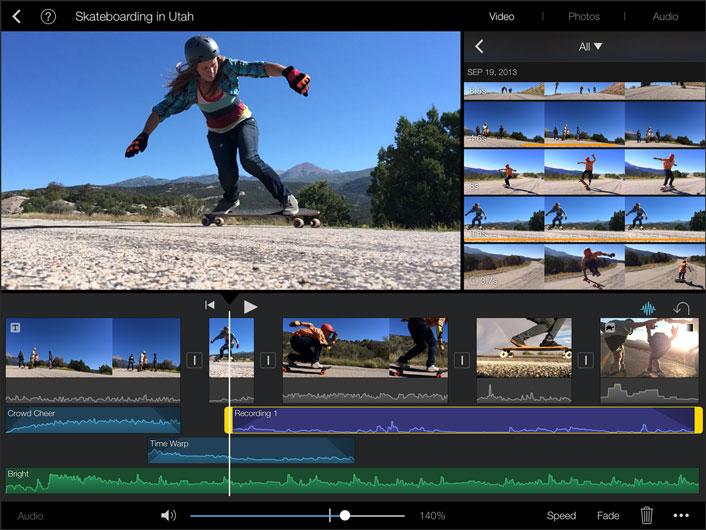 iMovie iPad Screenshot